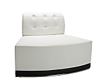 Metro White Tufted Inverted Corner Chair