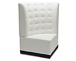 Metro White Tufted Corner High Back Chair