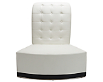 Metro White Tufted Inverted Corner High Back Chair