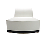 Metro White Inverted Corner Chair