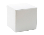 Upholstered Ottoman White 18 in. Square
