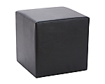 Upholstered Ottoman Black 18 in. Square