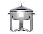 Chafer Stainless Round 3 qt. Hammered (Liner and Sterno 7oz Not Included)