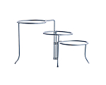3 Tier Stainless Dinner Plate Stand