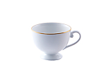 White Rim Gold Border Footed Coffee/Tea Cup 9 oz.