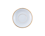 White Rim Gold Border Footed Coffee Cup Saucer