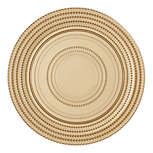 "Check out the Gio Gold Glass Charger 12.5"" for rent"