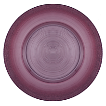 "Check out the Rose Ombre Circle Glass Charger 13"" for rent"