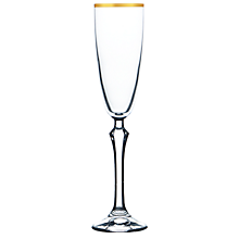 Check out the Eleanor Gold Rim Flute 6 oz. for rent