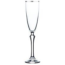 Check out the Eleanor Platinum Rim Flute Glass 6 oz. for rent
