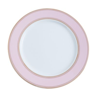 """Example of State Plate Gold Border 11.25"""" Petal Pink"""