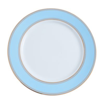 """Example of State Plate Gold Border 11.25"""" Robin Blue"""