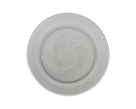Glass Smoke Lunch Plate 9 in.