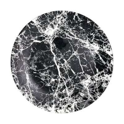 """Example of Marble Glass Dinner Plate 11"""" Black"""