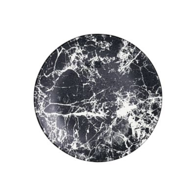 """Example of Marble Glass Salad Plate 7.5"""" Black"""
