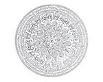 Samarah Glass Metallic Charger 13 in. Silver