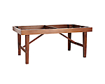 Mason Dining Table Base Walnut 6' x 42 in. x 30 in. (Must Order Mason Dining Table Top Walnut 6' x 42 in.)