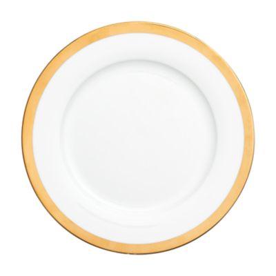 """Example of York Gold Border Dinner Plate 10.75"""""""