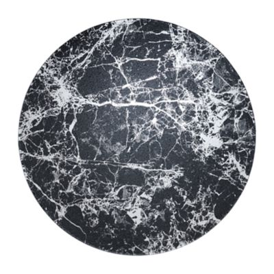 """Example of Marble Glass Charger 12.75"""" Black"""