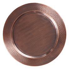 "Check out the Antique Copper Hammered Charger 13"" for rent"