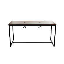 """Check out the Communal Charging Table 7' L x 36"""" W x 42"""" H Mill Oak and Black for rent"""