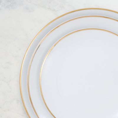 Detail image of White Coupe Gold Border Collection