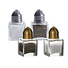 Check out the Glass Cube Salt and Pepper for rent