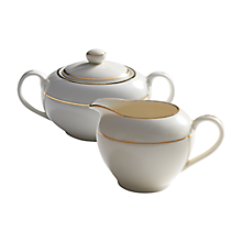 Check out the Ecru Gold Creamer and Sugar Bowl for rent