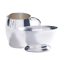 Check out the Silver Creamer and Sugar Bowl for rent