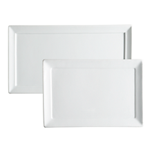 Check out the Ceramic Elite White Rectangle Tray for rent