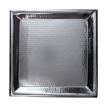 Check out the Stainless Hammered Tray for rent
