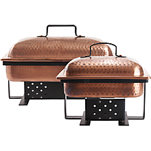 Check out the Antique Copper Hammered Rectangle Chafer for rent
