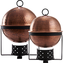 Check out the Antique Copper Hammered Round Chafer for rent