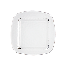 "Check out the Glass Pebble Plate Square 9.75"" for rent"