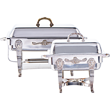 Check out the Silver Rectangle Chafer for rent