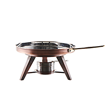 Check out the Antique Copper Rechaud Pan for rent