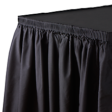 "Check out the Table Skirt 17' x 30"" for rent"