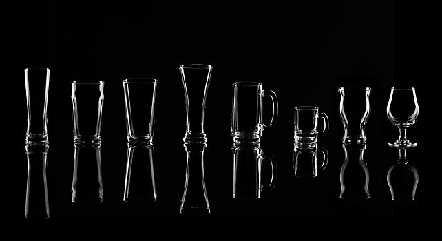 Group picture of Beer Glassware