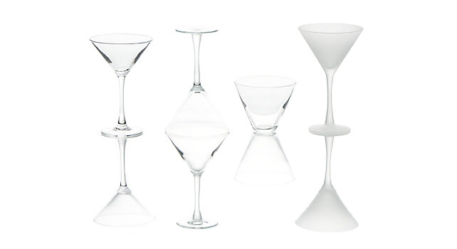 Group picture of Martini Glassware