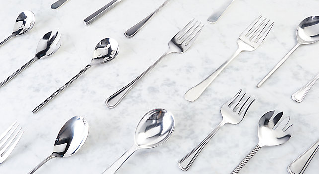 Group picture of Serving Forks and Spoons