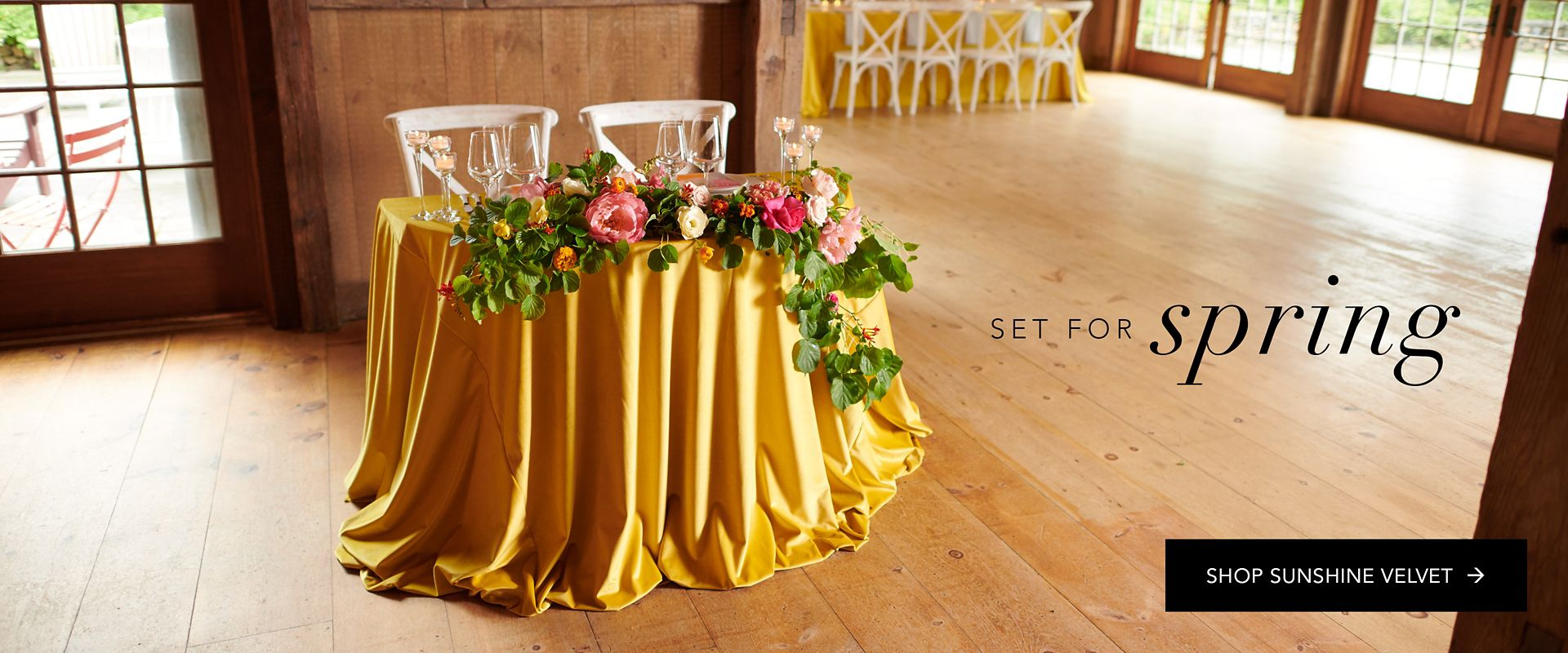 Shop Party Rental Ltd. Sunshine Velvet Linen