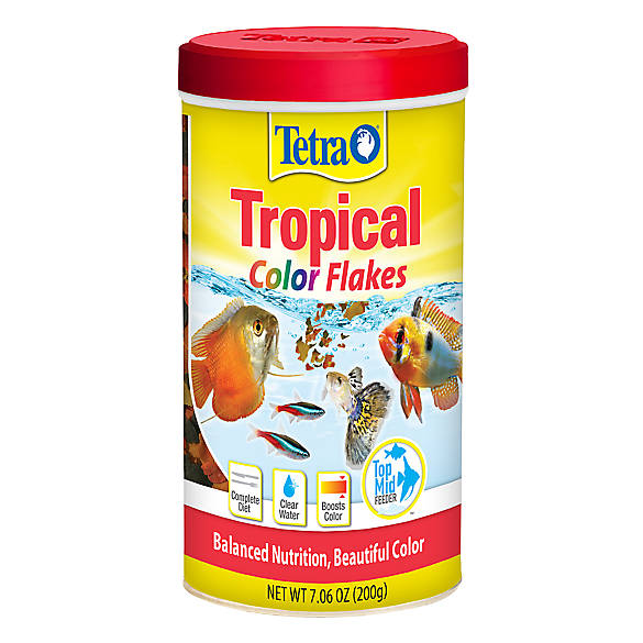 Tetra tetracolor tropical fish flakes fish food petsmart for Purina tropical fish food
