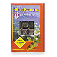 San Francisco Bay Brand® Sally's Red Mosquito Larvae Frozen Bloodworms Fish Food