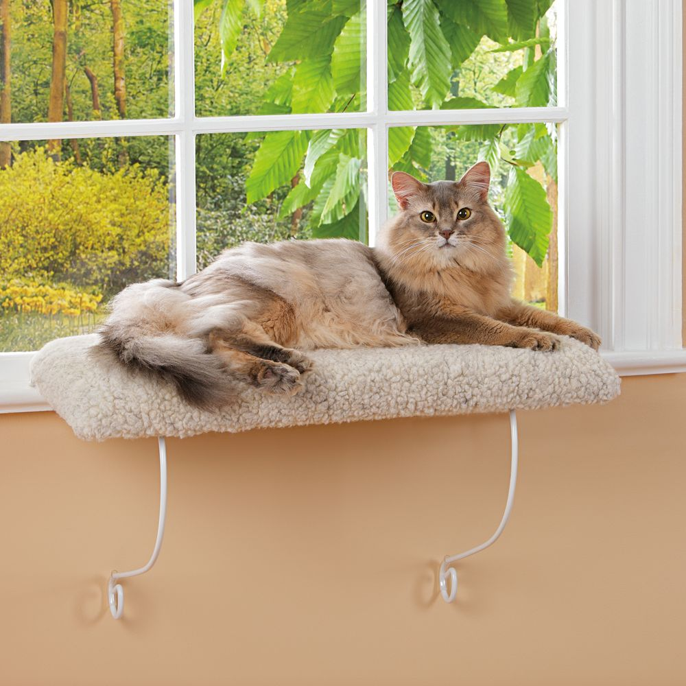 Whisker City Cozy Kitty Cushioned Window Perch cat Window Perches