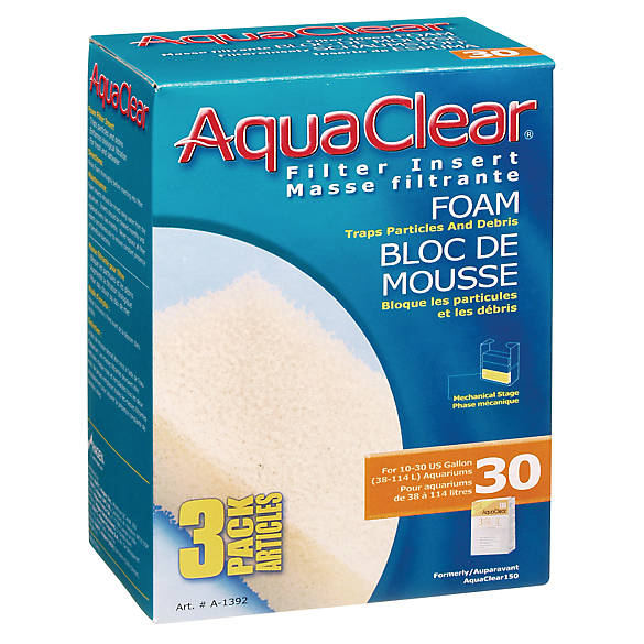 Aqua clear foam filter insert fish filter media petsmart for Petsmart fish filters