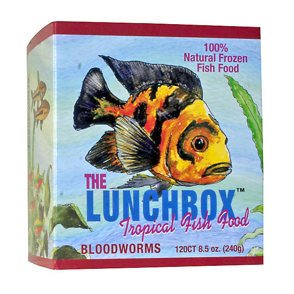 San francisco bay brand the lunchbox frozen bloodworms for Bloodworms fish food