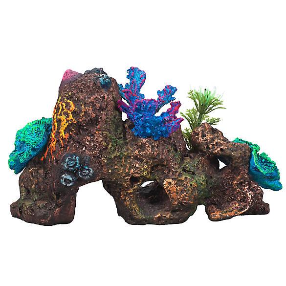 Top fin rock coral aquarium ornament fish ornaments for Petsmart fish decor