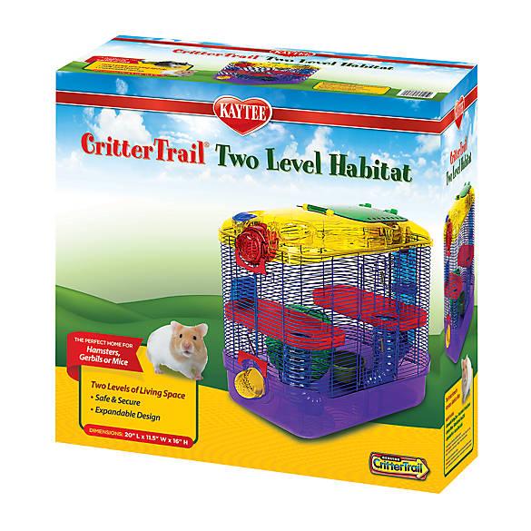 kaytee crittertrail two level habitat small pet cages petsmart