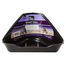 All Living Things® Little John Mini Hi-Corner Small Animal Litter Pan