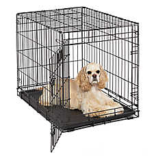 MidWest® Life Stages Single Door Folding Dog Crate